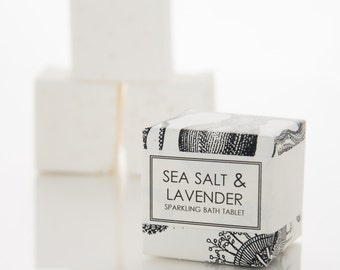 Sea Salt and Lavender Bath Fizzy - Sparkling Bath Bomb