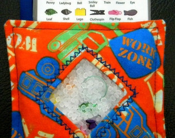 I Spy Bag - Mini with SEWN Word List and Detachable PICTURE LIST- Work Zone