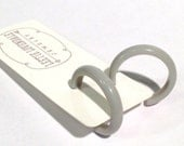 Light Smoke Grey Skinny Perfect Hoops - lucite vintage hoop earrings