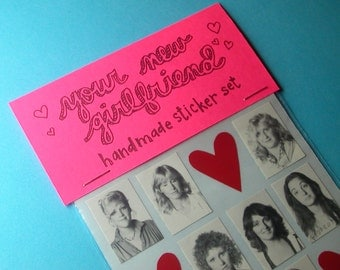 your new girlfriend handmade sticker set