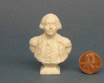 Miniature Dollhouse George Washington  Bust
