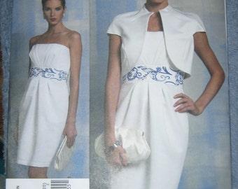 Vogue Badgley Mischka Evening Dress/Jacket Sz 14-20   V1154   Uncut