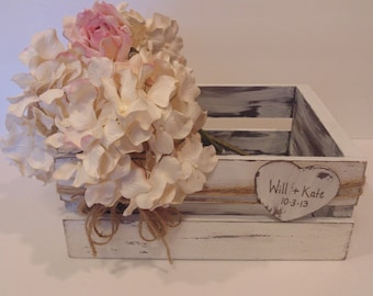 Wooden Wedding Card Box - Bride and Groom Wedding Decor - Flower Boxes