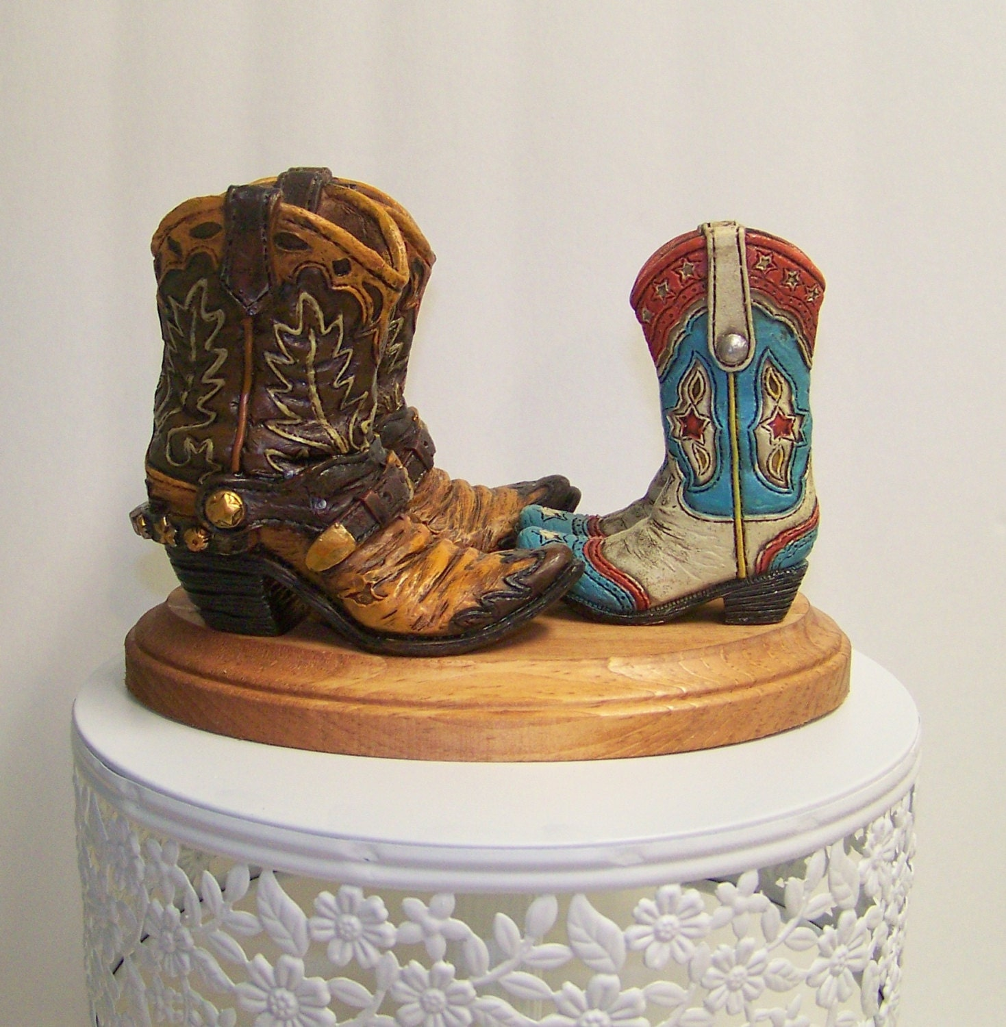 Wedding Cake Topper Western Cake Topper Rustic Boot