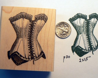 P30 Corset rubber stamp