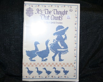 Vintage It's The Thought That Counts by Gloria & Pat Cross Stitch Patterns SEWBUSY12