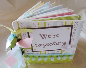 PREGNANCY PaPeR BaG album premade scrapbook --  We'Re ExPEcTing