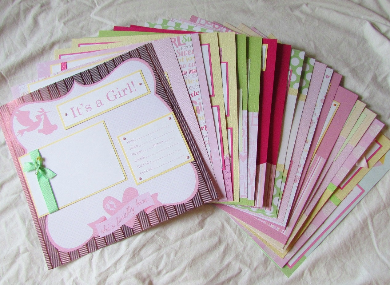 20 BABY GIRL Scrapbook Pages For 12x12 FiRsT YeAr ALbUm