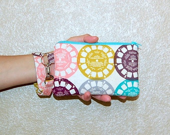 VIEWFINDER - Wristlet Purse with Removable Strap and Interior Pocket