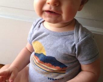 baby bodysuit - onesie - Burlington Vermont - Vintage inspired - unisex baby gift