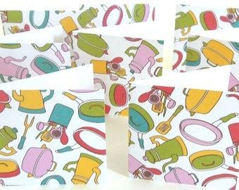 Teeny Tiny Kitchen Gadget Mini Cards - Set of 8 Mini Note Cards