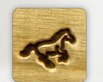 Design Stamp - GALLOPING HORSE - 6mm stamped image by ImpressArt -  includes How to Stamp Metal tutorial