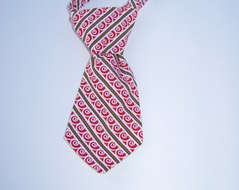 Baby boy Christmas Necktie Infant size 7 inches long Ready to ship