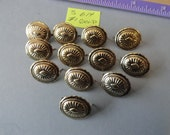 Reserved for Rebecca Metal Conchos with 2 Prongs 19 by 16 mm 59 pcs.