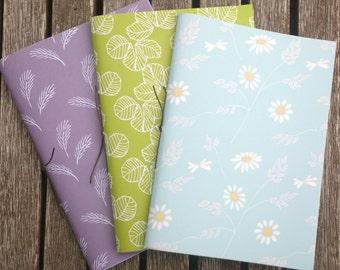 Pack of 3 Handmade Notebooks - Set no. 4