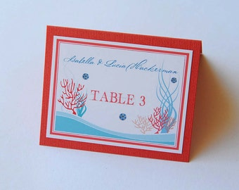 Wedding/Party Place Cards - Coral Reef Cuba Beach