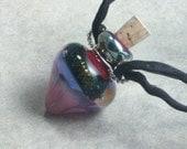 Wicked Garden --- Lampwork Poison Bottle Necklace On Silks
