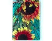 Sunflowers, glass cutting board,   wedding gift, flower gift, glass art, original art,