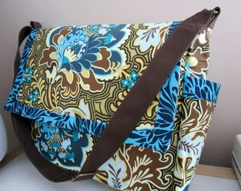Amy Butler Belle Messenger Diaper Bag Ready to Ship Priority Mail in US only