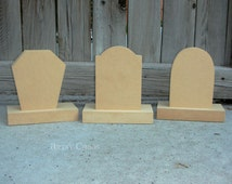 Unfinished Wood TOMBSTONES Halloween Holiday Home Decor