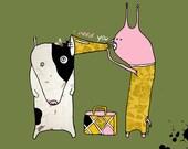 Illustration card with eco envelope - I need You