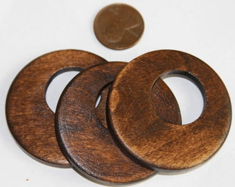Sale 10pcs of Wood Go Go beads 45mm  Brown