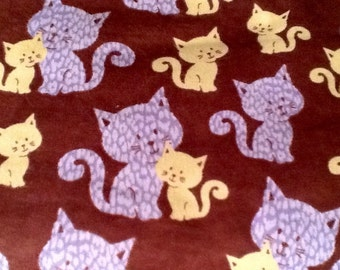 CATS Flannel Pajama/Lounge Pants  Available in childrens sizes 0-3 months to 16.  Contact me for adult sizes to 3x.