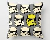 Star Wars pillow cover - Stormtrooper Pillow - Boyfriend gift ideas - Present for him - birthday gifts for boyfriend - Modern Throw pillow