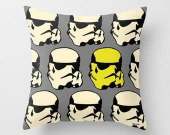 Star Wars pillow cover - Stormtrooper Pillow - Boyfriend gift ideas - Present for him - birthday gifts for boyfriend - Modern Throw pillow