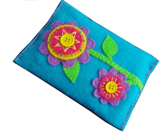 Instant Download Pattern Embroidered Felt Pocket Tissue Case