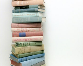 PASTEL BOOKS, 25 ,Photo is Example, Vintage Books, Books for Nursery, Books for Wedding, Pastel Centerpiece, Book Stack, Vintage Wedding