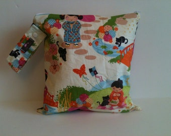Large Wet Bag  Free Shipping On Second Item,  Japanese Garden
