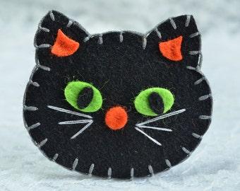 Set of 6pcs handmade Halloween Cat--black (FT1007)
