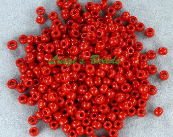 8/0 Round TOHO Japanese Glass Seed Beads #45- Opaque Pepper Red 15g