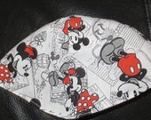 Mickey and Minnie Mouse kippah or lined yarmulke -- toddler or regular sizing---back to school kids kippah