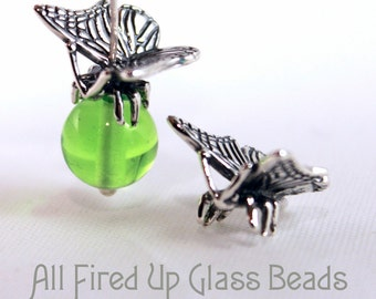 Butterfly Bead Cap Sterling Silver
