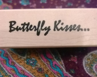 Butterfly Kisses Rubber Stamp