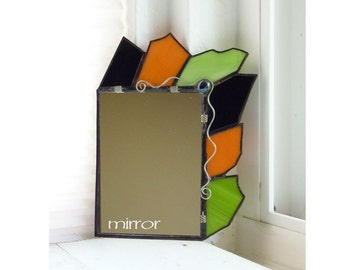 Stained Glass Dorm or Locker Mirror - Mohawk