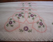 Hand Embroidered - Set of 4 Pillowcases