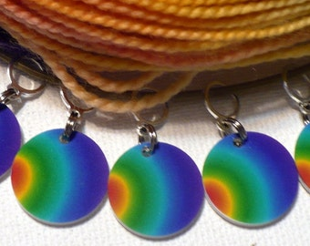 STITCHMARKERS for KNITTERS, Rainbow Lacework