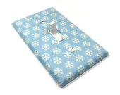Light Blue Snowflake Decor Light Switch Cover Snowflakes Decoration Holiday Home Decor Christmas 1266A