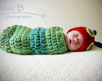 Crochet Rainbow Caterpillar with Cocoon - Indulgy