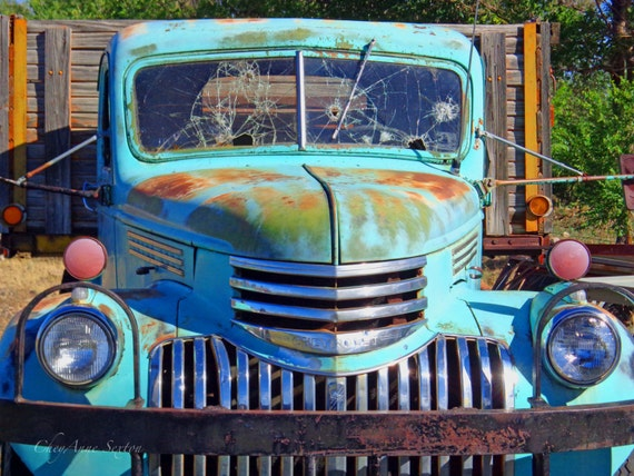 Chrome Mint Teal Green Chevrolet Truck Grill New Mexico antique pickup ...