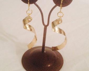 Eye of the Storm Brass Earrings