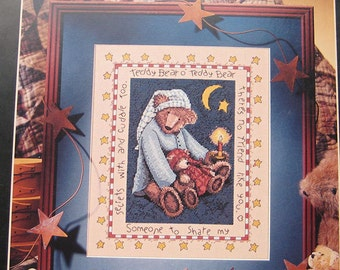 Teddy Bear Cross Stitch Pattern by Teresa Kogut