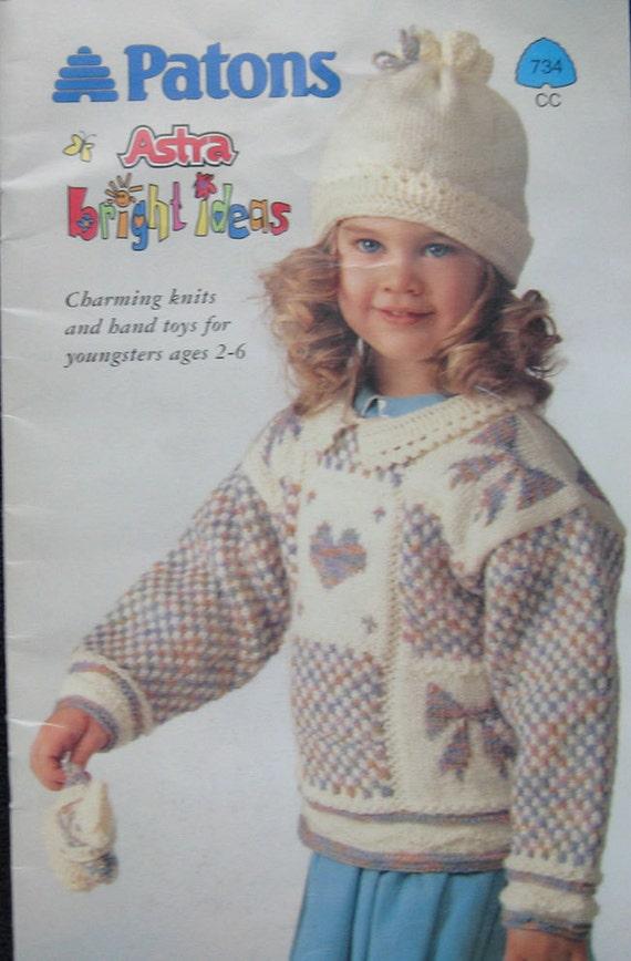 Patons Knitting Patterns Children : Patons Bright Ideas Childrens Knitting Pattern Book