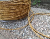 Brown Paper Ribbon 4 yards Great for Crafting Gift Wrap.  Weddings. Rustic.