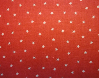 Star Material | Calico Material Red With Stars | 1 Yard  Destash