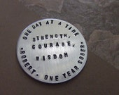 Sobriety Medallion, Sobriety Date Chip, Personalized Sobriety Chip, Sobriety Coin, Sober Anniversary Gift, Recovery Gift, AA, NA 12 Step