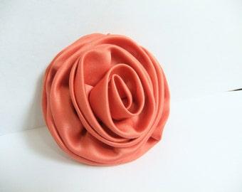 Orange Rose Flower Pin Brooch